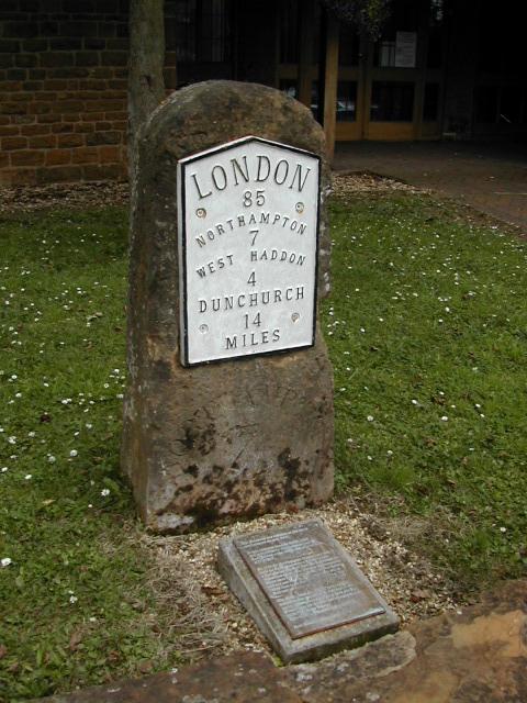 Milestone at East Haddon