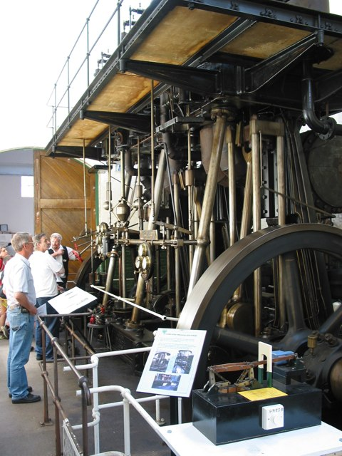 Steam engine at Twyford pumping station