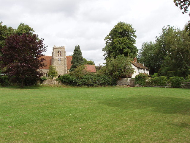 Towersey St Catherine's Church, across the green