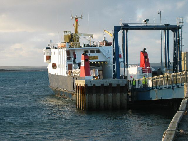 Ferry at Eday pier