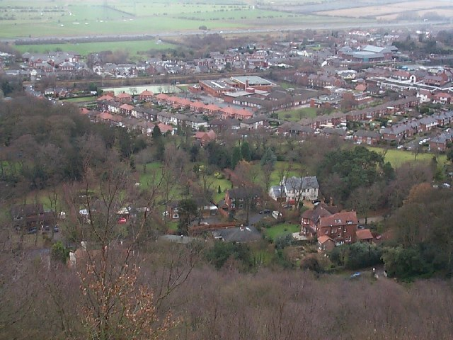 Frodsham from Frodsham Hill