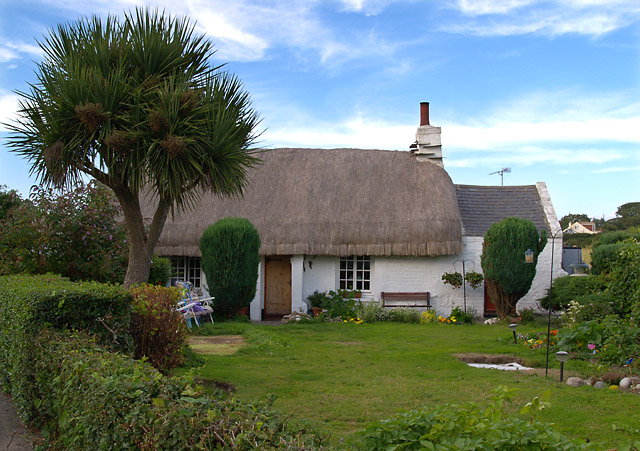 Thatched cottage, Cranstal.  Isle of Man.