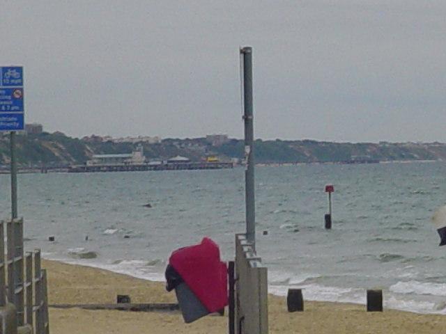 Bournemouth Pier from Branksome Chine beach