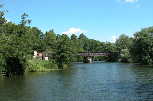 Bristol and Bath railway path crossing the river Avon.