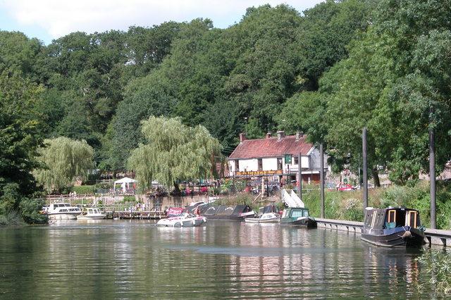 The Old Lock & Weir pub on the River Avon hear Hanham