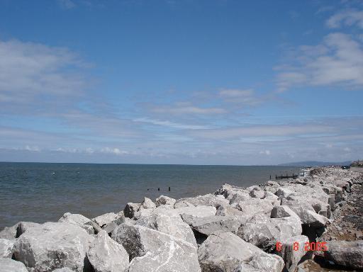 The sea off Llanddulas