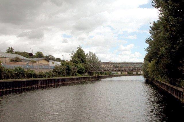 River Avon at Locksbrook, on the Western edge of bath