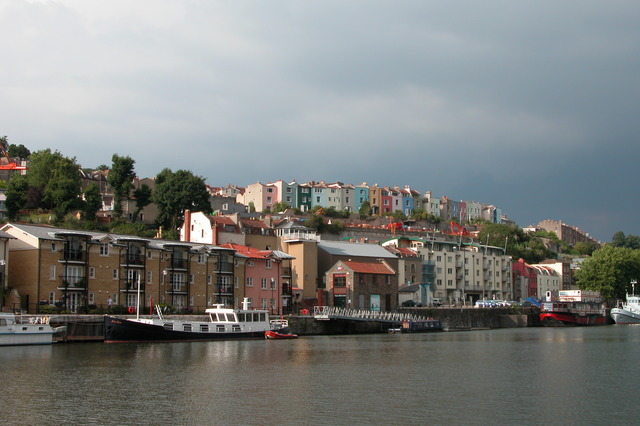 Houses overlooking Bristol Floating Harbour.