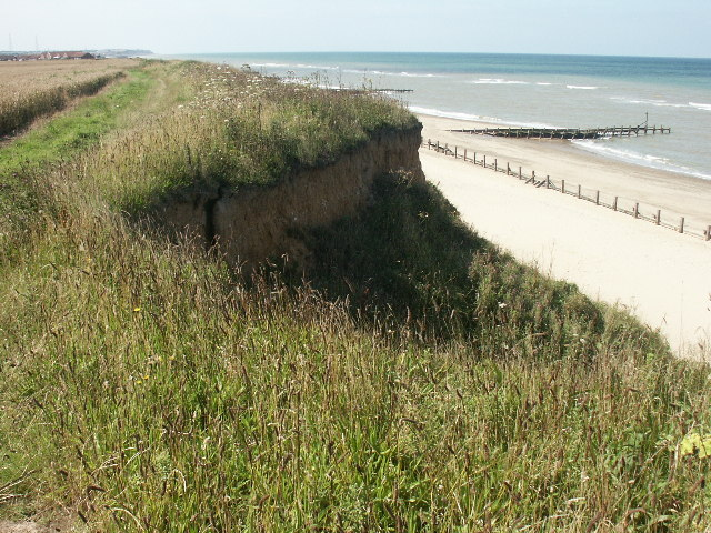 Eroding cliffs, between Happisburgh and Ostend