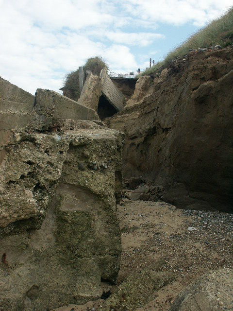 Remains of beach access ramp, Happisburgh