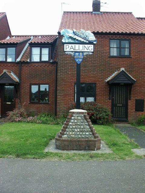 Village sign, Sea Palling