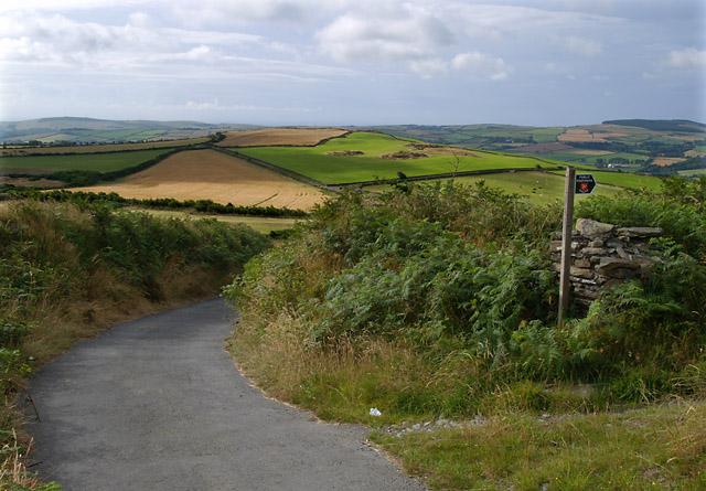 Cronk ny Moghlane from Cronk Breck.   Isle of Man