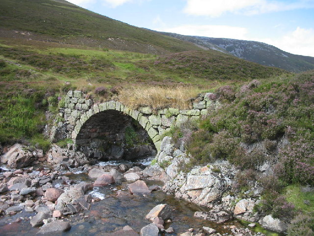 Bridge on the Old Military Road in Glen Clunie