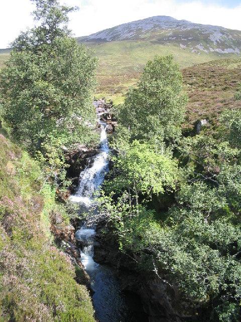 Waterfall on the Allt a'Gharbh Coire