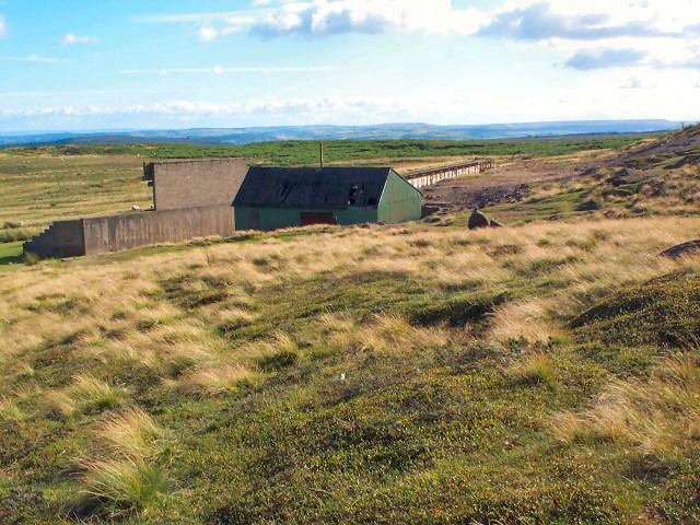 Rifle range on Hawksworth Moor