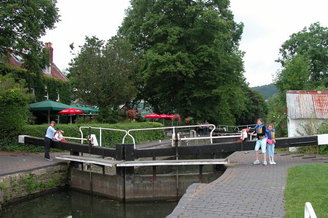 The Jolly Sailor, Saltford Lock on the River Avon.