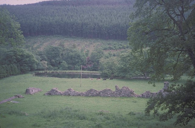 The abbey at Abbey-cwm-hir