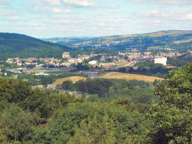Aire Valley from viewpoint above Moorhead
