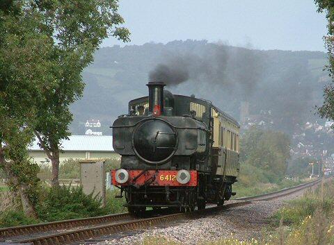 Railway across Dunster Marsh