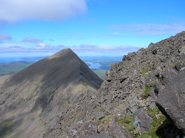Arete on Cuillin ridge