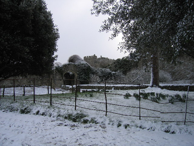 Saltwood Castle in the Snow
