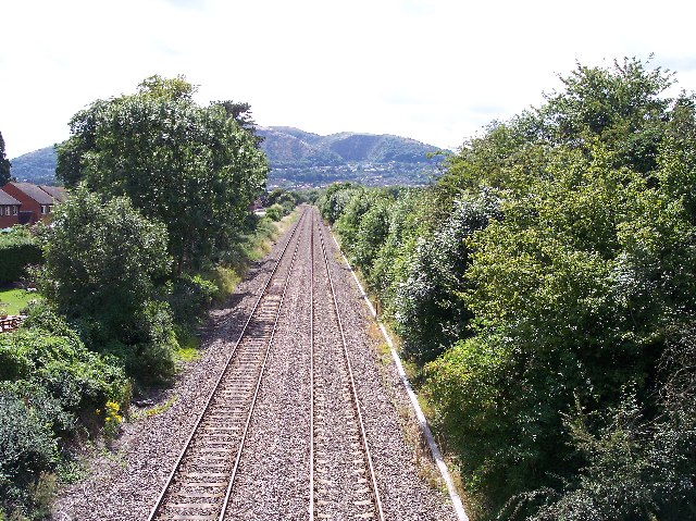 Worcester to Hereford railway from Lower Howsell Road bridge