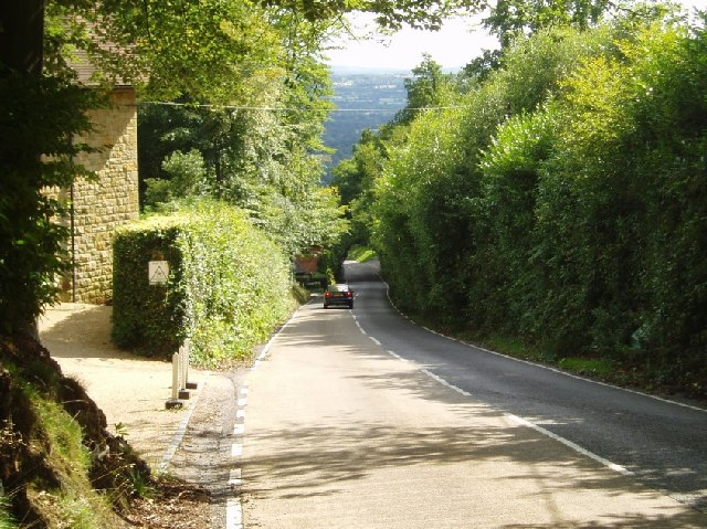 Toys Hill - the road south towards Four Elms