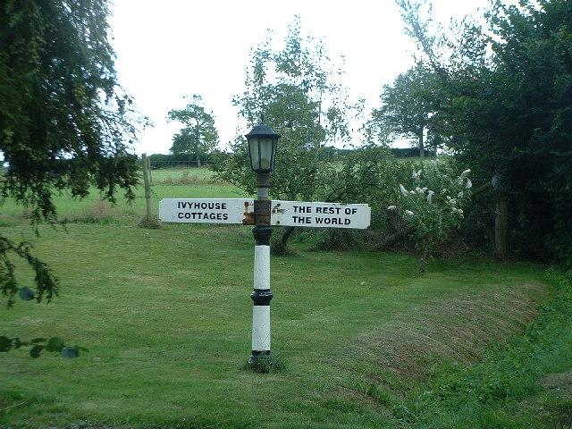 Humorous signpost