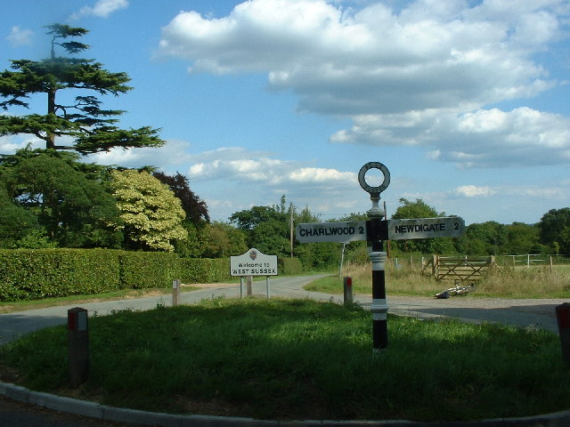 T-junction on Sussex border at the top of Orltons Lane