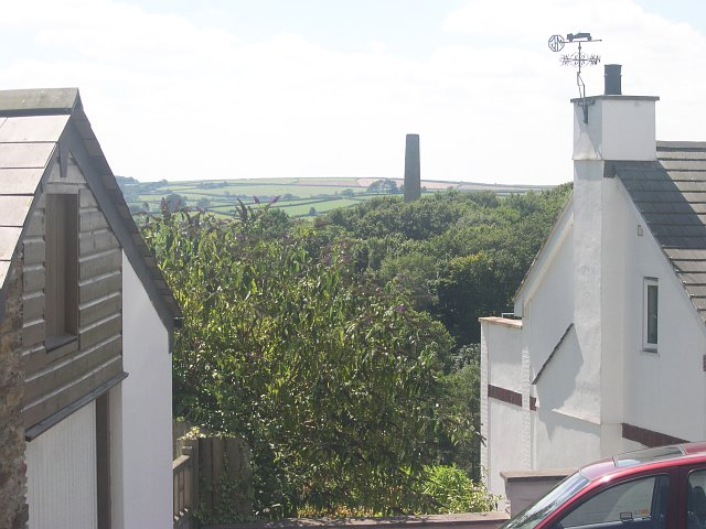 Mine chimney in the trees