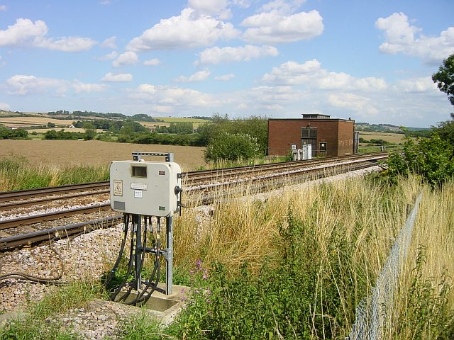 North Downs from railway near Lenham