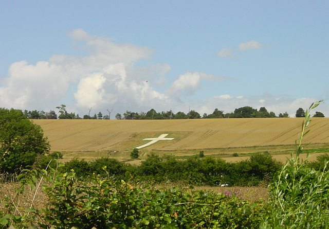 Chalk Cross War Memorial on Downs above Lenham