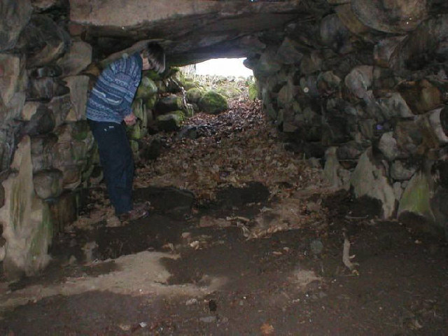 Souterrain in the grounds of Glenkindie House