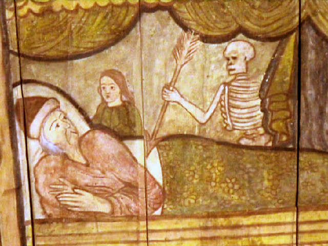 Deathbed Scene. St Mary's, Grandtully