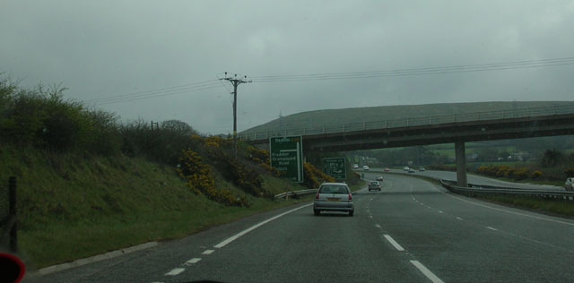 Approaching Fraddon turn off on the A30