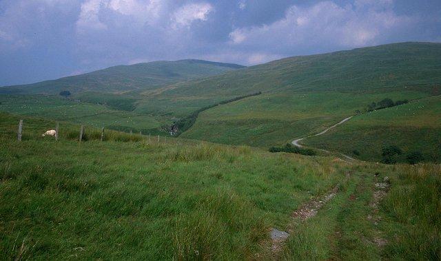 Hill track above Aber Peithnant