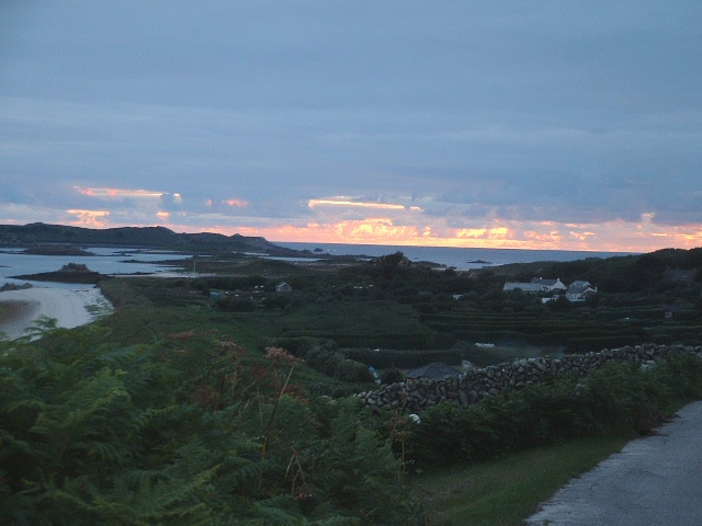 Sunset on St Martins looking westward