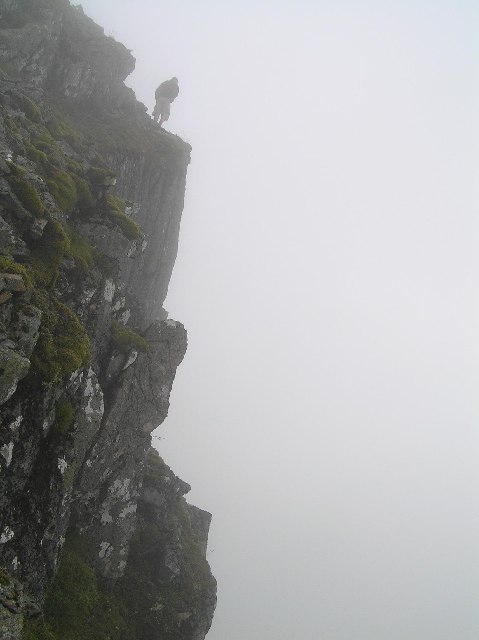 Cliff edge on Sgorr Dhonaill