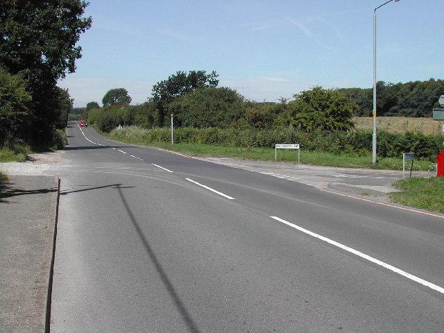 Junction of Hollinwood Lane and Main Street, Calverton
