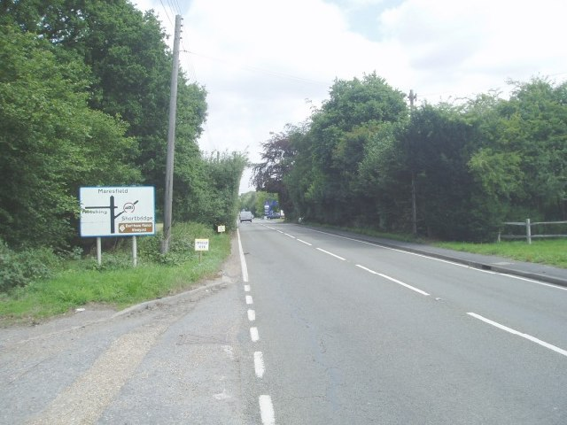 The A272 looking eastwards