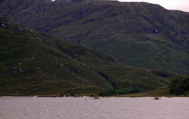 Loch Morar south shore at Camas Luinge