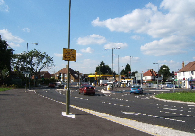 Junction of Chessington Road (B2200) and Ruxley Lane (B284)