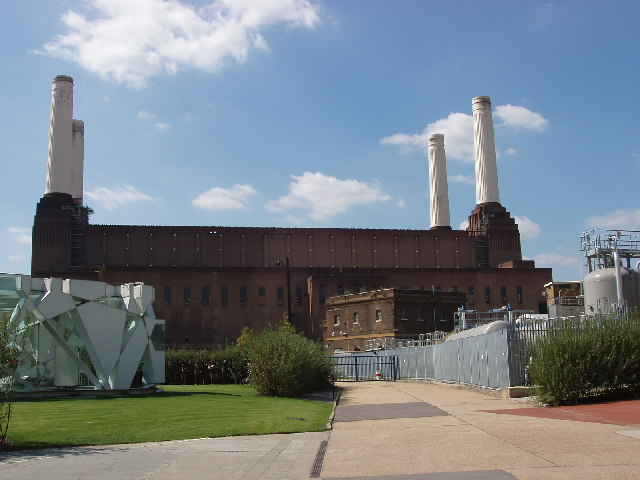 Approach to Battersea Power Station