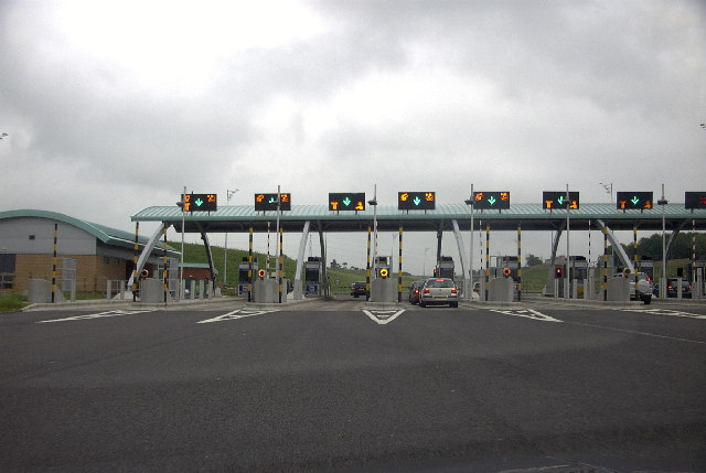 M6 main toll booths