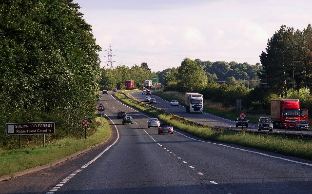The A1 at Ranby, Notts.