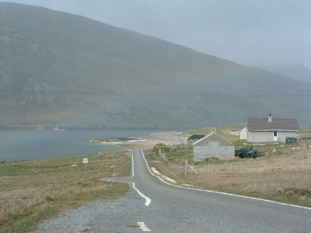 Rainbow over Sound of Vatersay