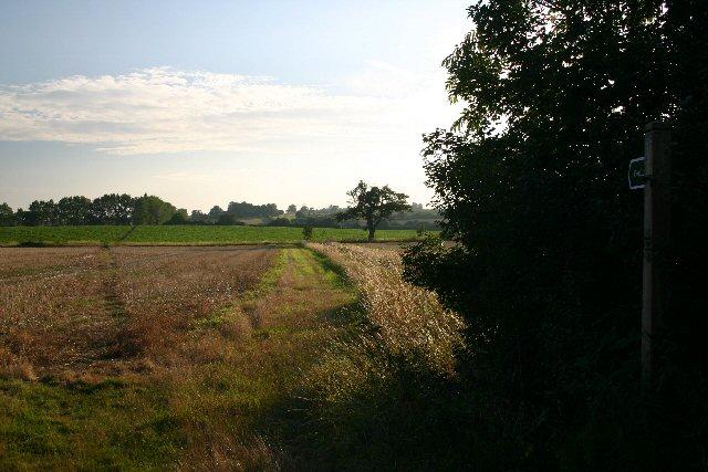 Footpath to Barrow in Suffolk