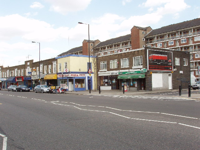 Shops in Lillie Road, Fulham