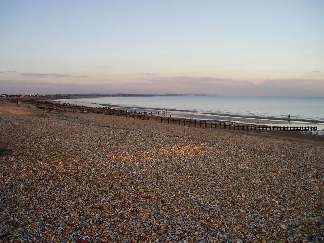 Pevensey Bay at evening