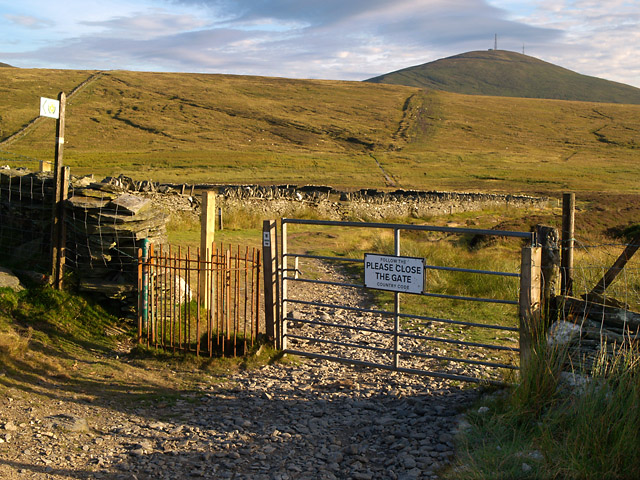 Gateway on road to East Mountain Gate.  Isle of Man.